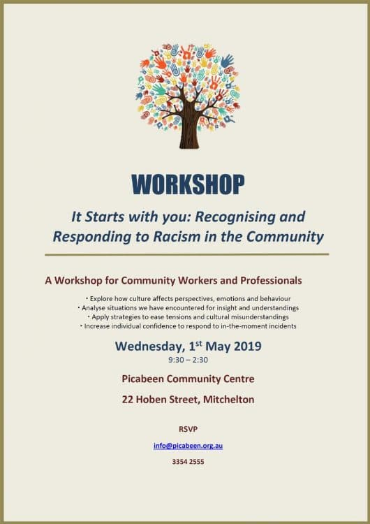 Picabeen Workshop on Racism 1 May 2019