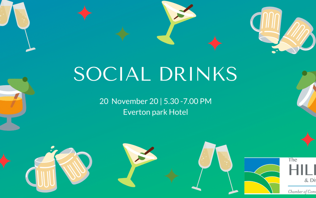 November 2020 Social Drinks – Friday 20th November