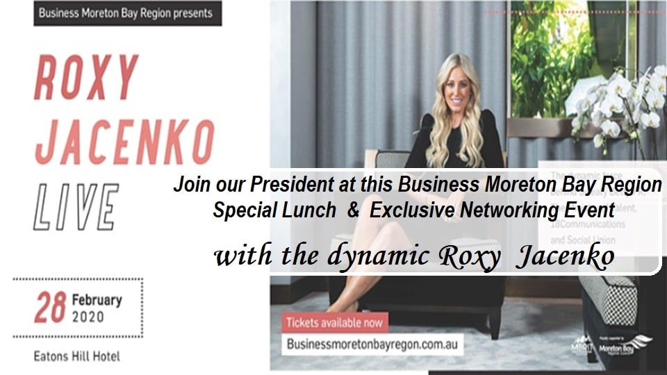 Moreton Bay Region Roxy Jacenko Lunch