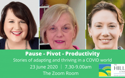 Pause – Pivot – Productivity