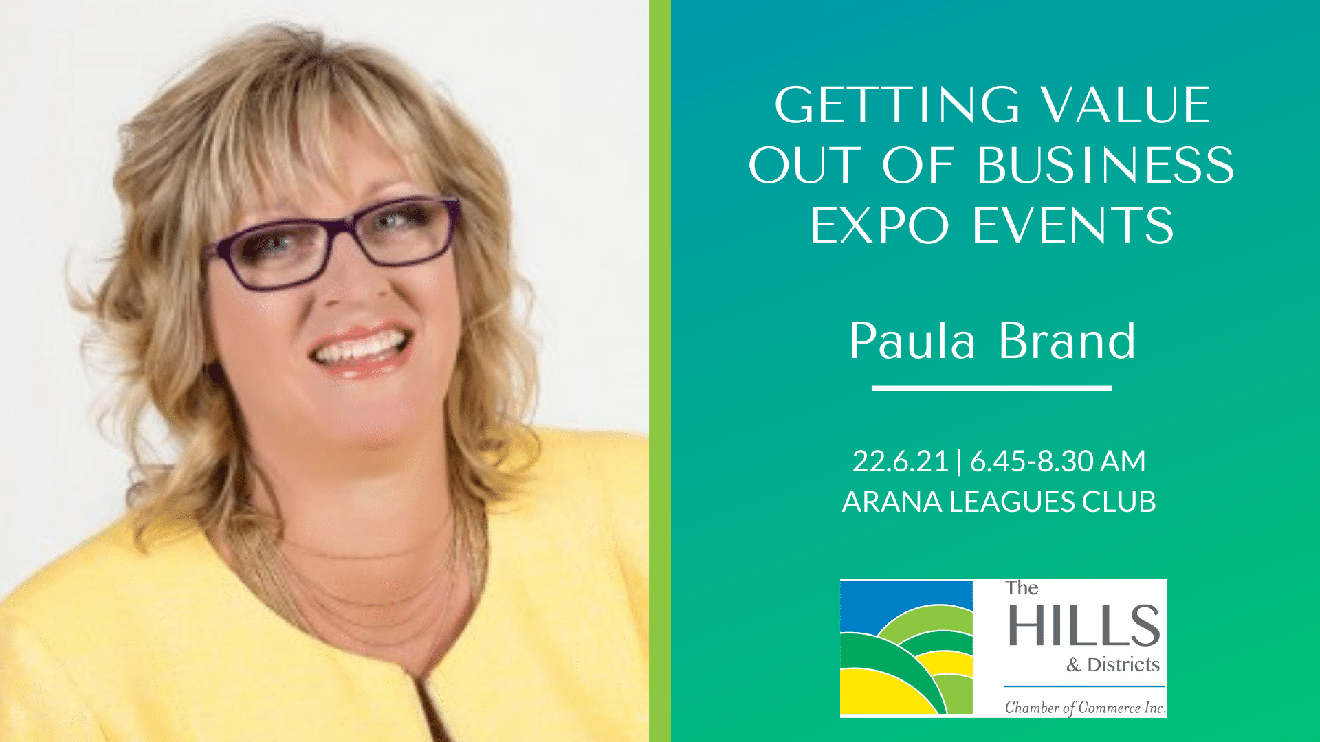 June 2021 Breakfast: Paula Brand – Getting Value Out of Business Expo Events